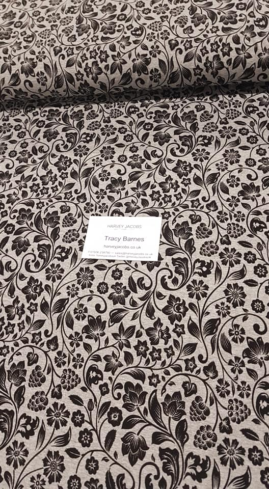 04b8148f256 Gorgeous Marl Floral Viscose Jersey – Harvey Jacobs Fabrics